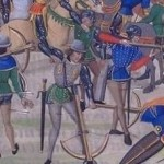Crossbowmen at the Battle of Crecy.